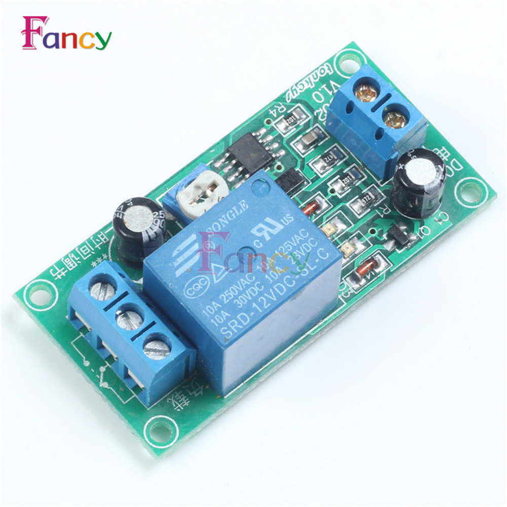 DC 12V Conduction NE555 Delay Timer Switch Adjustable Time Delay Relay Module AC 250V 10A DC 30V Connect Module 1pc multifunction self lock relay dc 5v plc cycle timer module delay time relay