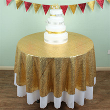 wholesale sequin tablecloth 72 inches round gold sequin tablecloth birthday party decoration
