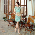 Free Shipping Top-grade Cheongsam Silk Chinese Tradition Vestidos De Fiesta Wedding Cheongsam Dress  SMYQP-G0003