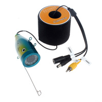 Free Shipping 30M Waterproof Underwater ICE Fishing Camera 1000TVL Fish Finder Part With 12pcs Led Lights