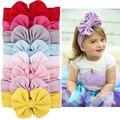 Nova Boa Qualidade Meninas Crianças Do Bebê Big Bow Headband Hairband Estiramento Turbante Nó Cabeça Envoltório Hats & Caps