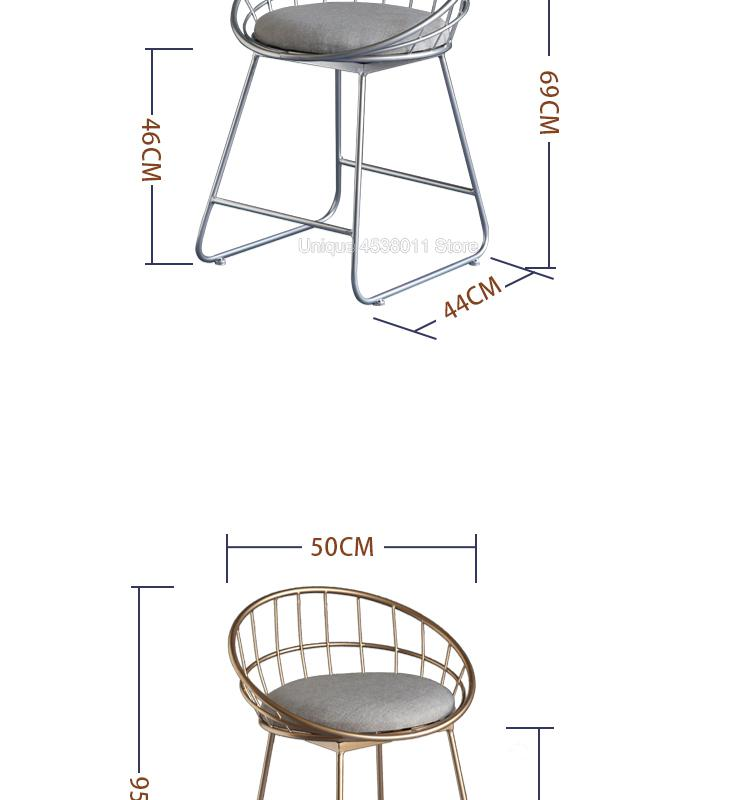 Simple bar stool wrought iron 33