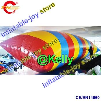 10x3 м Бесплатная доставка по воздуху большая надувная водная катапульта для продажи, гигантский надувной воздушный мешок для воды батут прыжок