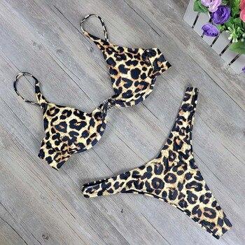 2019 New high cut thong bathing suit high waist swimsuit Solid swimwear women Brazilian Biquini swim beach micro bikini set 4