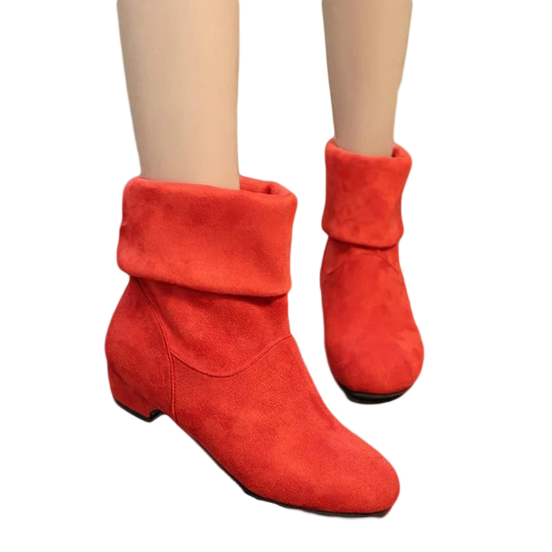 2018 Autumn Winter Women Boots Scrub Women's Martin Boots Shoes Fashion Boots Comfortable Women Shoes Free Shipping