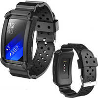 Pulsera de silicona para Samsung Galaxy Gear Fit 2 (SM-R360) reloj inteligente Tracker-Protector de pantalla suave correa de repuesto