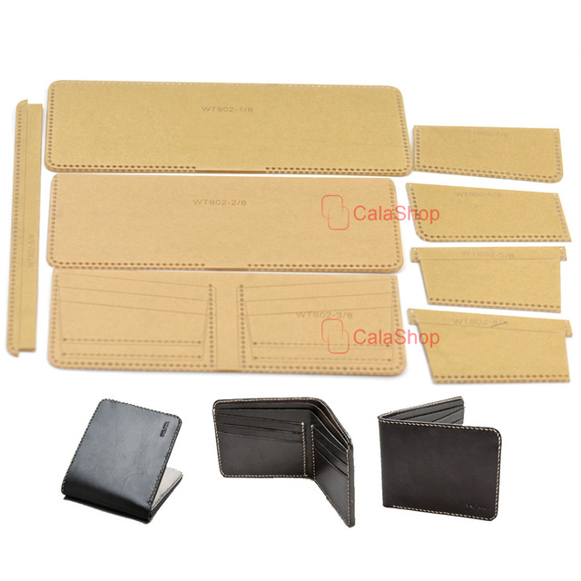 1 Pcs / Lot Acrylic Leather Template Home Handwork Leathercraft - wallet designs templates