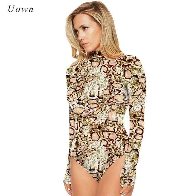 955744457012 2018 Women Leopard Print Bodysuit Autumn Winter Turtleneck Long Sleeve  Bodysuit Leotard Tops One piece Jumpsuits