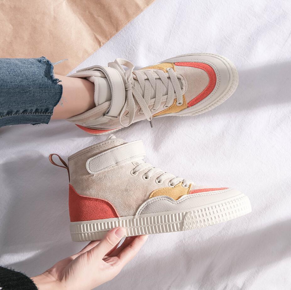 XCZJ 2019 autumn and winter new Martin boots female students Korean version of cotton shoes plus velvet women's shoes boots 21