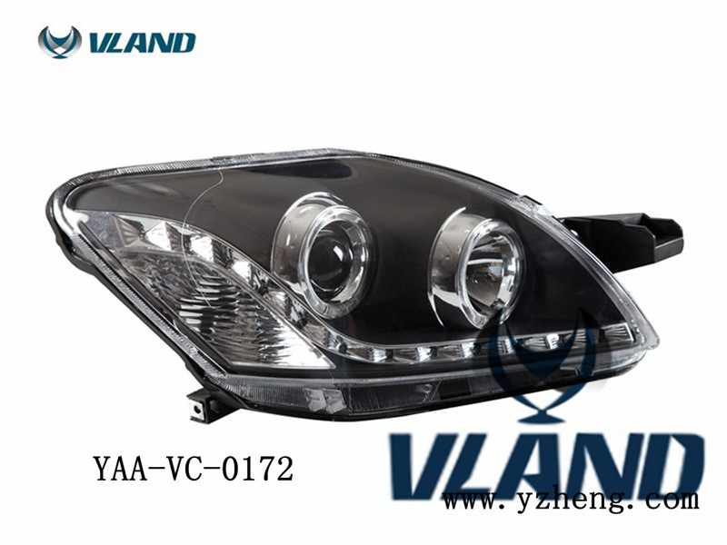 Free shipping for VLAND Car head lamp for Toyota for VOIS LED headlight 2008-2013 angel eyes Yaris Headlight free shipping for vland factory for car head lamp for audi for a3 led headlight 2008 2009 2010 2011 2012 year h7 xenon lens