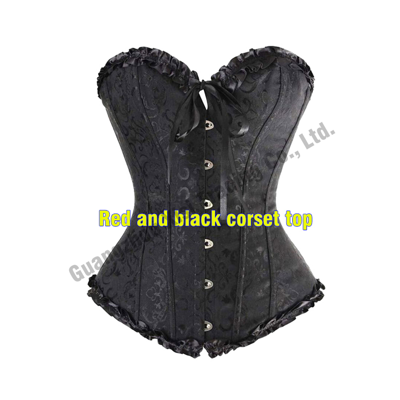 2c173846322 Sexy Women Wedding Dress Bustier Bone Black Lace Bustier Corset Corselet  Woman Sexy Corset Red White Black S-6XL Plus Size