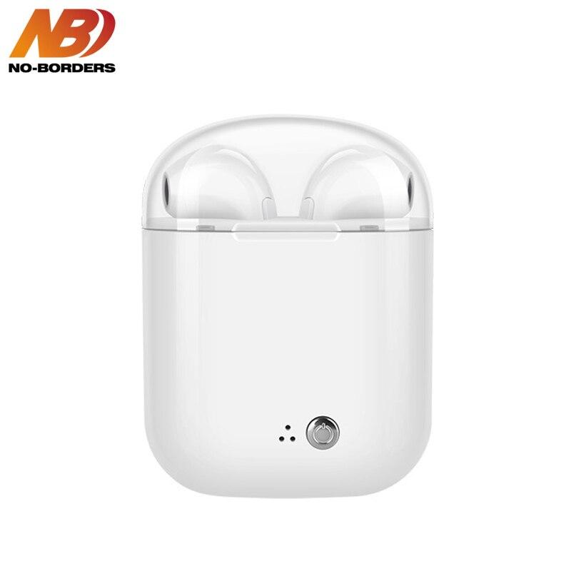 AUCUN-FRONTIÈRES I7S Plus TWS In-Ear HIFI Sans Fil Bluetooth Écouteurs Écouteurs Coloré Transparent Stéréo Écouteurs Avec Boîte De Charge