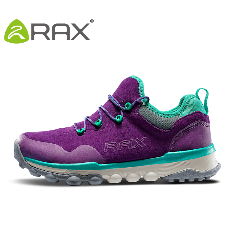 RAX Women Genuine Leather Hiking Shoes Outdoor Waterproof Warm Boots Breathable Outdoor Sports Jogging Sneakers Men Walking rax women s hiking shoes waterproof hiking boots men outdoor breathable walking sneakers winter boots women mountain climbing