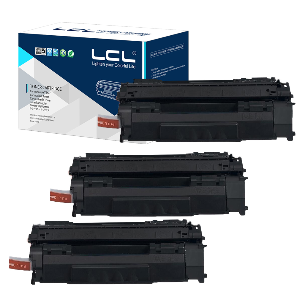 LCL crg708 crg-708 crg 708 (3-Pack)  Black 2500 pages Laser Toner Cartridge Compatible for Canon LBP-3300/3360