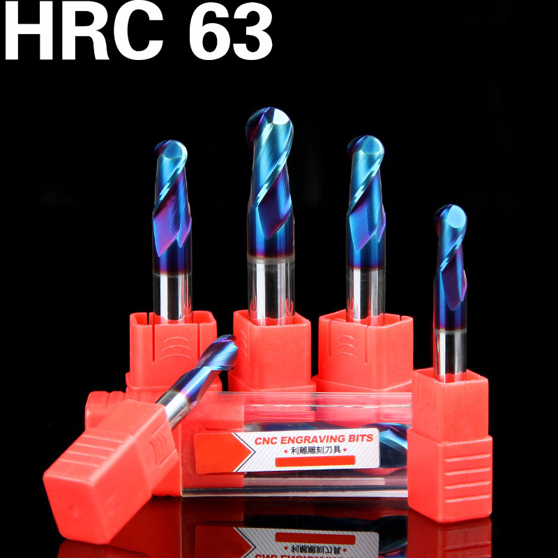1 HRC63 2-Flutes Spiral bit TiAIN Coating End Mill CNC Milling Cutter  router bit for Aluminum CNC milling machine 3 175 12 0 5 40l one flute spiral taper cutter cnc engraving tools one flute spiral bit taper bits
