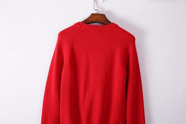 HTB1lU1JhVcJL1JjSZFOq6AWlXXap - BLIND FOR LOVE Women Embroidery Sweaters Red Christmas Long Sleeve O Neck Floral Bee Sweater PTC 299