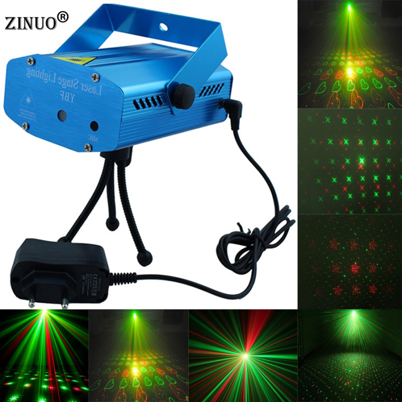 ZINUO Blue Mini Laser Pointer Projector Light DJ Disco Laser Stage Lighting AC110-240V For Party Entertainment Disco  Club Bar 3 lens 36 patterns rg blue mini led stage laser lighting professinal dj light red gree blue