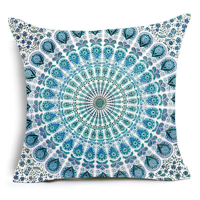 Nordic Cushion Cover Fancy Hippie Mandala Polyester Pillowcase Sofa Bed Home Decorative Throw Pillow Cover Funda Housse Cushion