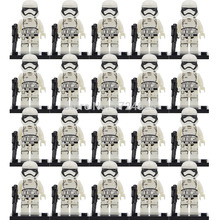 Wholesale 20pcs lot Star Wars Starwars Clone Trooper Figure Darth Vader Yoda Obi Blocks font b