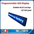 P10 открытый один цвет синий из светодиодов коллегия программируемый и прокрутки сообщения из светодиодов знак и размер 40 * 200 см