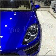 Midnight blue Brilho Metálico Envoltório de Vinil Film Car Styling Com Ar Livre completa Brilhante Tampa do carro Foile PROTWRAPS 1.52×20 m/Roll