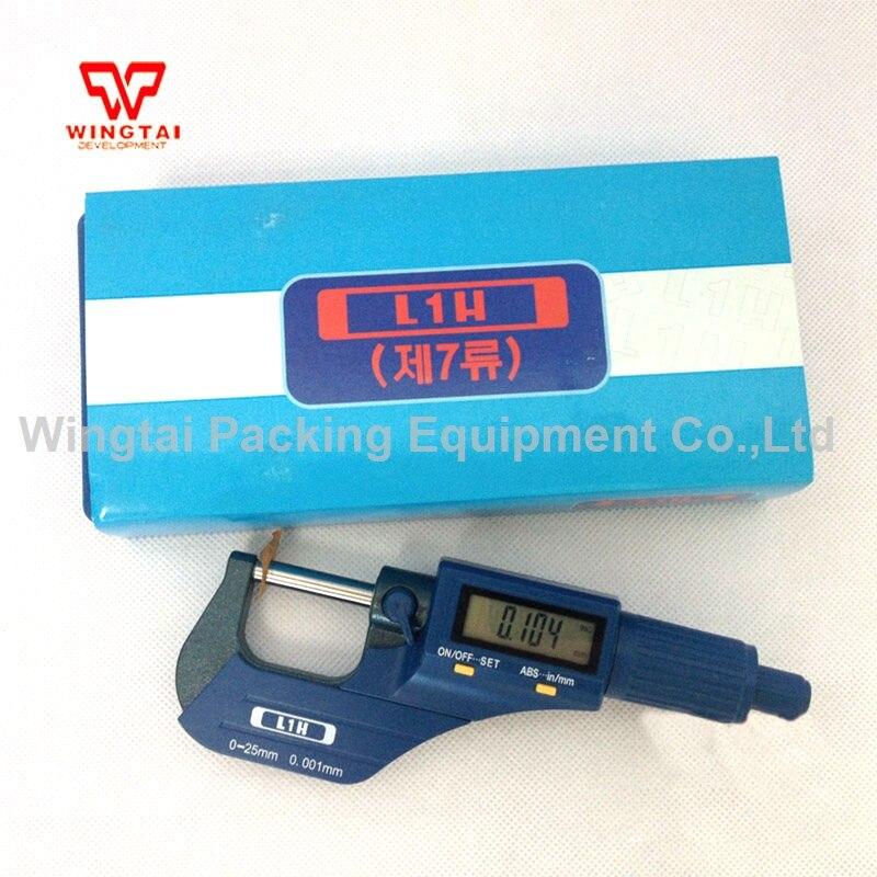 Digital 0.001mm Accuracy, 0~25mm Measuring Range L1H Thickness Gauge digital 0 001mm accuracy 0 25mm measuring range l1h thickness gauge