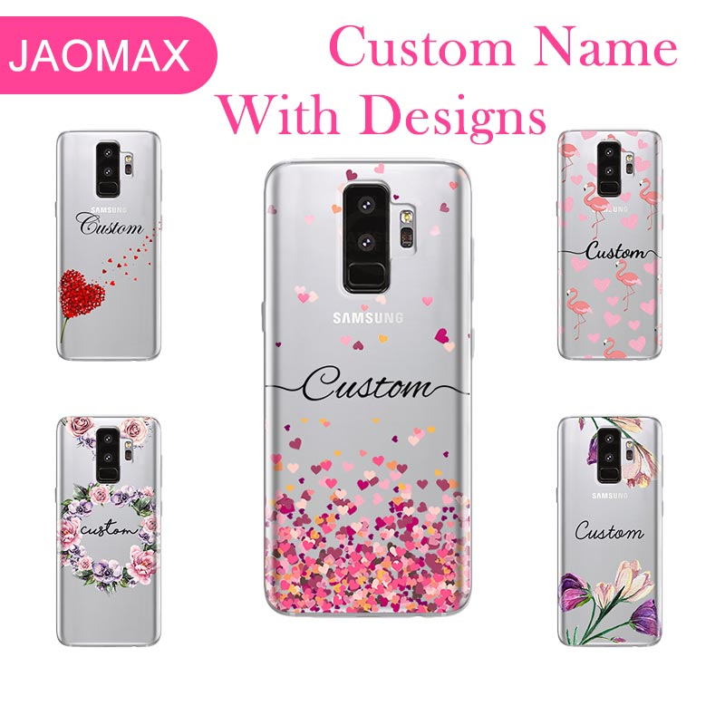 separation shoes 2f191 d8fac Jaomax Personalized Flower Name Custom Phone Case For Samsung Galaxy S9 S7  edge A5 S8 Plus Note 8 Soft Silicone Back Cover Capa