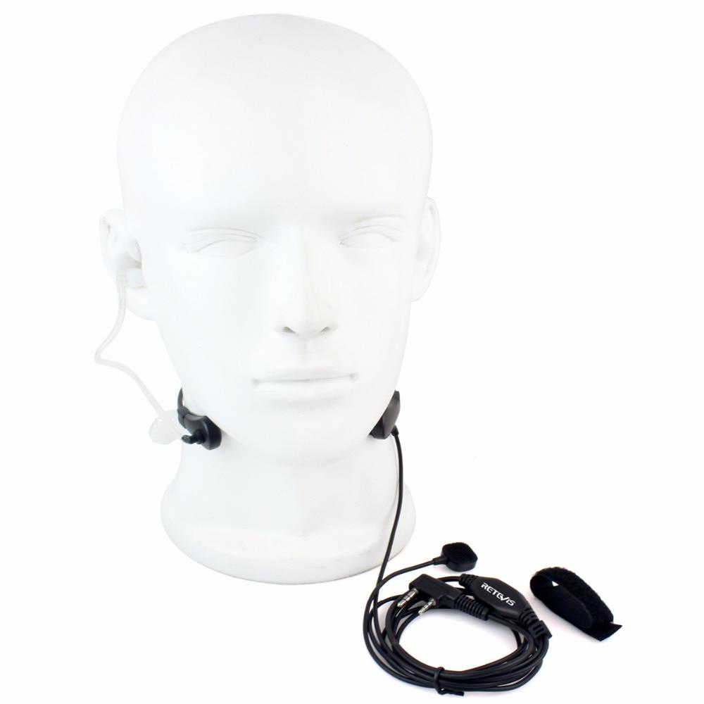 bilder für 1 stück Retevis RT-5R H-777 Kehlkopfmikrofon Ohrhörer Finger PTT Kopfhörer Zubehör Für Baofeng UV-5R Für Kenwood C9007A