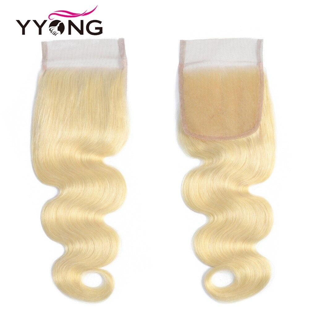 Yyong 613 Bundles With Closure  Body Wave  Blonde Bundles With Closure Lace Closure With Bundles 4Pc/Lot  4