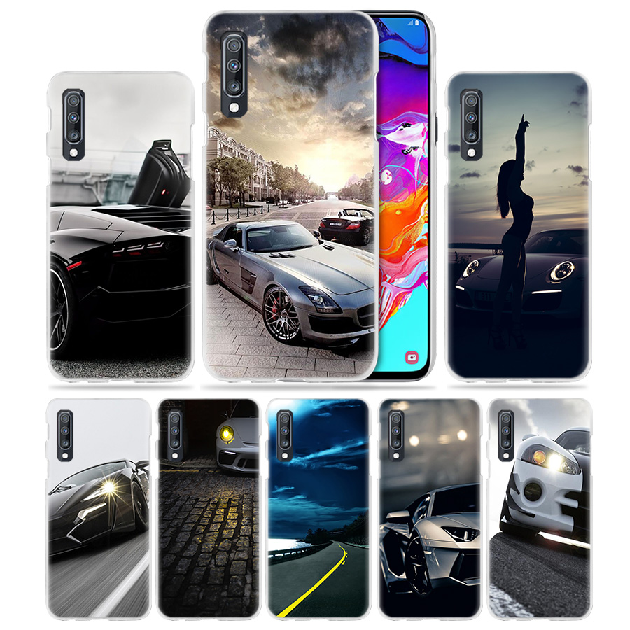Sports Super Car <font><b>Case</b></font> for <font><b>Samsung</b></font> Galaxy A50 A70 A20e A40 A30 A20 <font><b>A10</b></font> A8 A6 Plus A9 A7 2018 Hard Clear PC Phone Coque Cover Capa image
