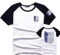Atak na titan t mężczyzna bawełniana koszulka anime shingeki no kyojin ankieta corps logo tee tshirt ubrania prezent