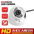 Mini Câmera de 2MP 1MP AHD 720 P 1080 P de Segurança IR 20 M Noite visão de Trabalho 2000TVL HD Analógico de Vigilância Dome CCTV Câmera Para AHD DVR