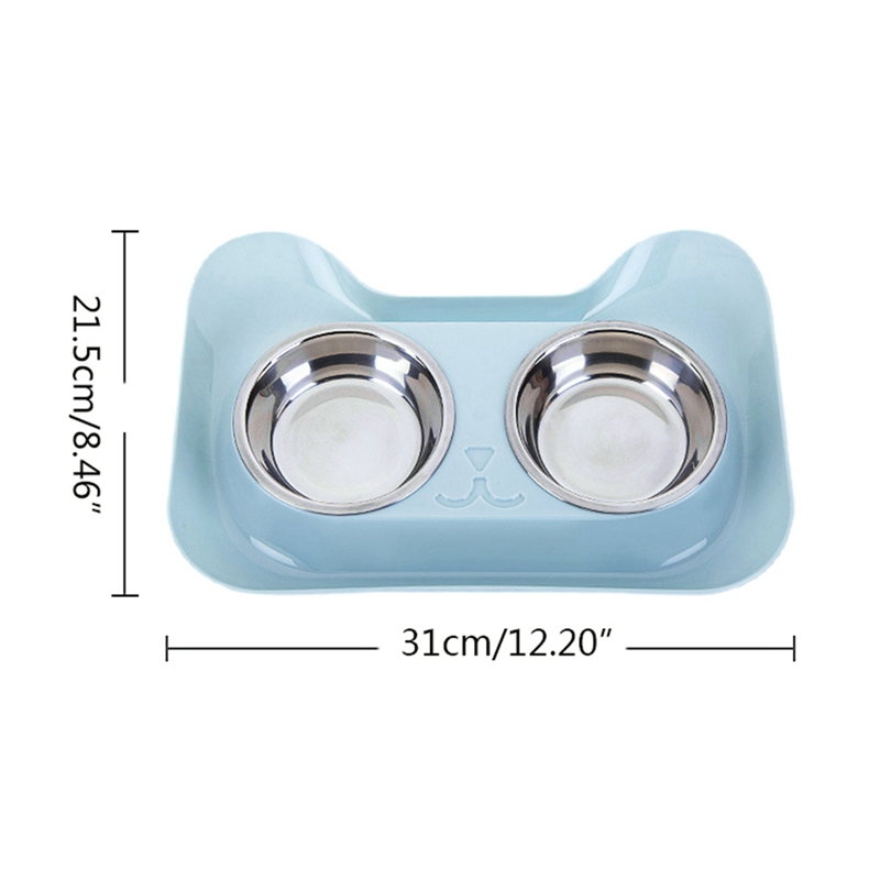 Cat Shape Stainless Steel Bowl Dog Feeder Drinking Bowls for Dogs Cats Pet Food Bowl Comedero Perro 8