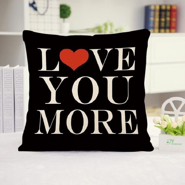 Pillow Quotes Gorgeous WARM TOUR Love Quotes Decorative 48x48CM 48x48IN Simple Style You
