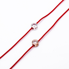 1 Pcs Sliver/ Gold Red Lucky Braided Rope Hand Unisex String Simple Crystal Cuff Bracelets Casual Style