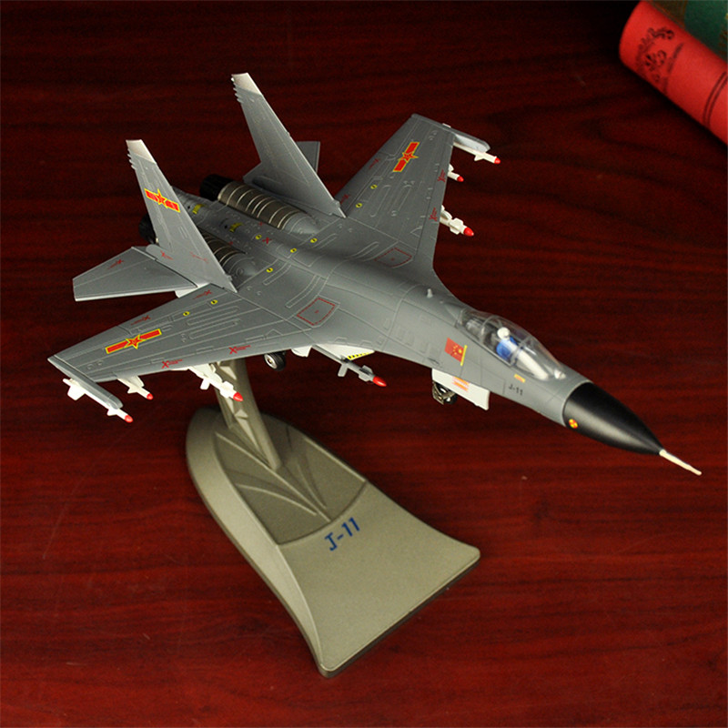 1:72 J-11 Aircraft Model Military Model Alloy Aircraft Military Model Fighter Exquisite Gift Free Shiping 1 144 soviet mig 25 fighter military aircraft assemble model 80412