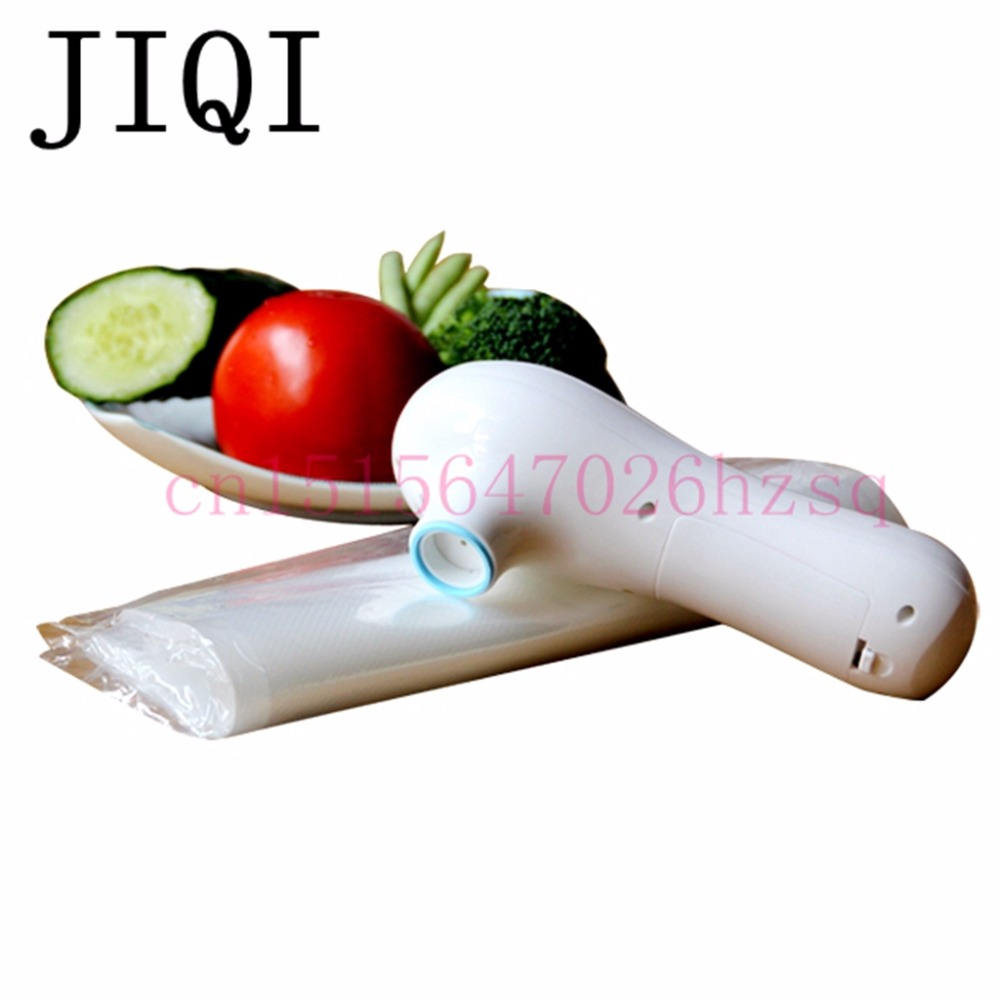 JIQI Household food vacuum fresh-keeping machine hand-held electric sealer snacks sealing machine packaging machine bear 220 v hand held electric blender multifunctional household grinding meat mincing juicer machine