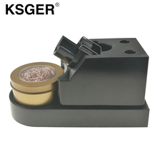 KSGER 2018 New Welding Tip Cleaner Steel Wire With Stand Holder Sponge Cleaner Clean Steel Wire Scrubber