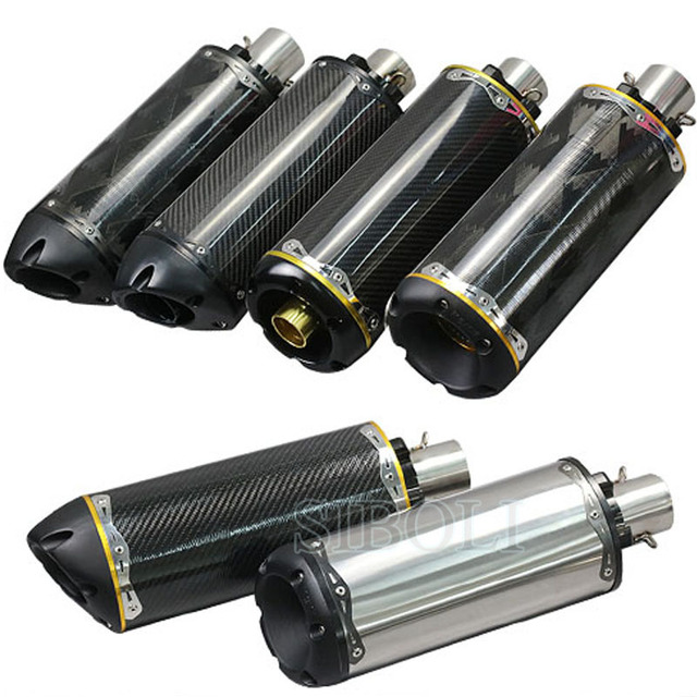 51mm Motorcycle Exhaust Muffler Usa Two Brothers Exhaust Cnc Aluminium Alloy Carbon Fiber Pipe Escape Moto