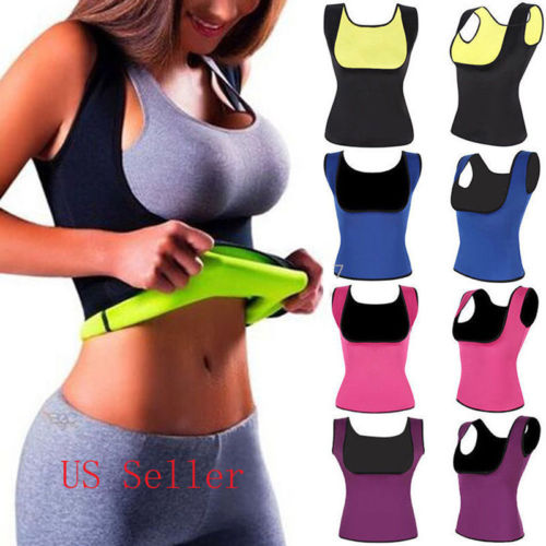 Cool Women Shaped Vest T-Shirts Solid color High Waist Neoprene Training Vest Corset Body Sleeveless T-Shirts 2018