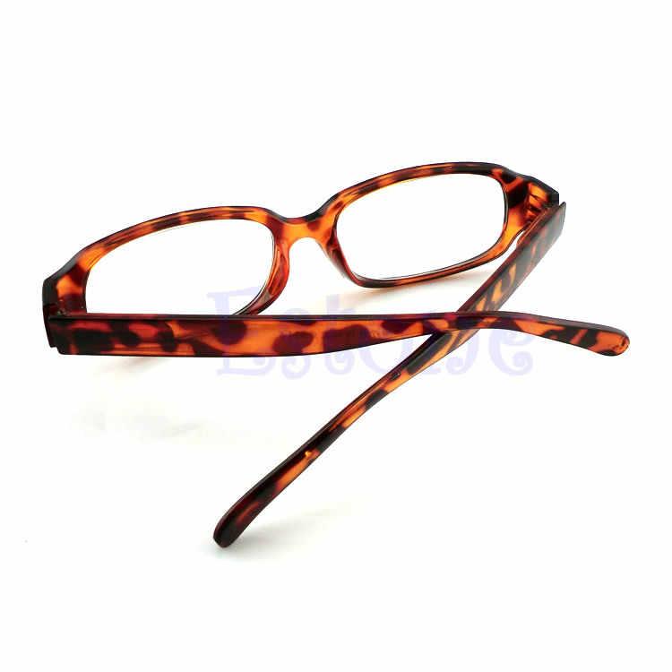 ใหม่Unisexผู้หญิงผู้ชายแว่นตาอ่านหนังสือComfyสายตายาวสายตายาวสีดำสีน้ำตาลใหม่ 1.0 1.5 2.0 2.5 3.0 Diopter Blackสีน้ำตาล
