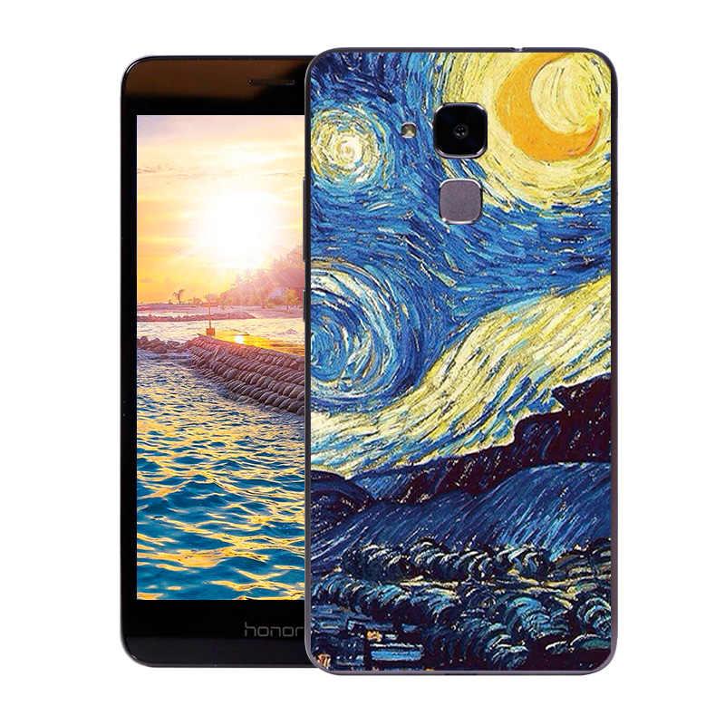 """TPU чехол для Huawei Honor 5C/Honor 7 Lite/GT3 5,2 """"Мягкий силиконовый чехол с модным принтом для Honor 5 C чехол-накладка для телефона Обложки"""