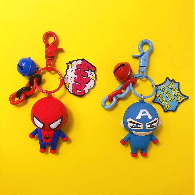 2019 New 3D Spider Man Captain America Batman Iron Man Superman Keychains Star War Darth Vader and Storm Trooper Key Ring in Key Chains from Jewelry Accessories