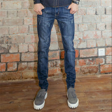fashion Men's Jeans long Trouser Straight Leg Leisure Casual pants 2015 New Mid Waist Straight denim Jeans Plus Size 28-36
