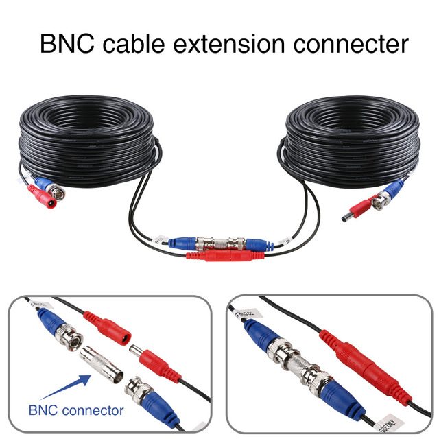 ANNKE 4X100ft 30M Security Camera Video Power Cable Cord BNC RCA Wire for CCTV Camera and DVR in CCTV System Surveillance Cables