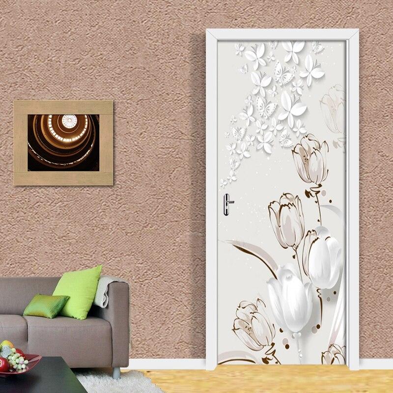 Купить пвх самоклеящиеся водонепроницаемые дверные настенные наклейки