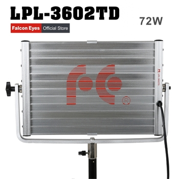 FalconEyes Diving Video Light 72W Soft Daylight Panel Light Dimmable 360pcs LED Studio Photo Video Interview Lighting LPL-3602TD