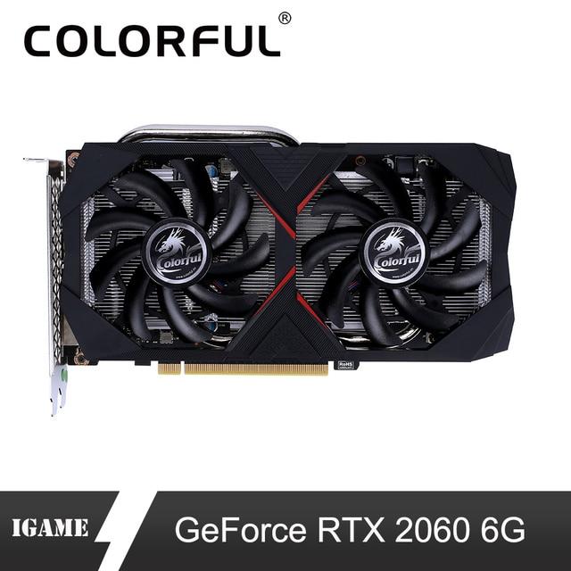 Nhiều màu sắc GeForce RTX 2060 6G Card Đồ Họa NVIDIA GDDR6 GPU Chơi Game Video Card 1365-1680 MHz PCI-E 3.0 placa de Video Cho MÁY TÍNH