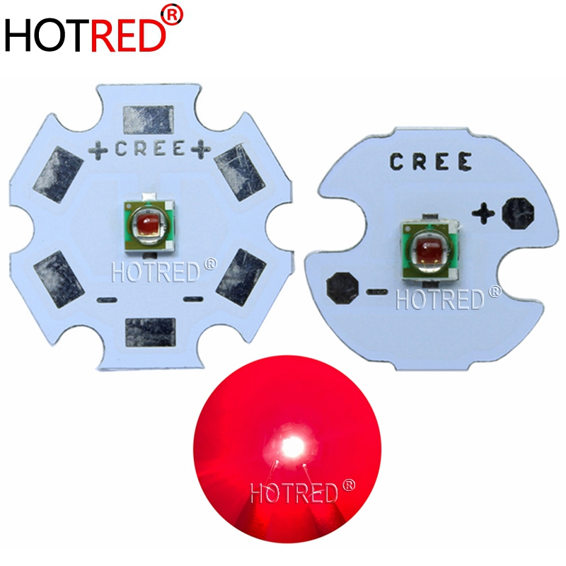 NEW 1pcs 1-3W CREE XP-E XPE Photo Deep Red 660nm LED  Deep Red LED Emitter Didoes On 20mm/16mm/14mm/12mm/8mm PCB