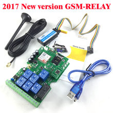 Friendly Three sets Quad Band Seven relay output GSM remote control board Support Dial SMS and DTMF to control(China)